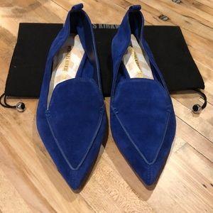 Nicholas Kirkwood NIB beya blue suede size 36